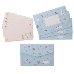 Greeting Card MIN CARD Envelope 4 Pcs Set Cat