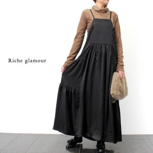 Gather Flare Cami One‐piece dress.