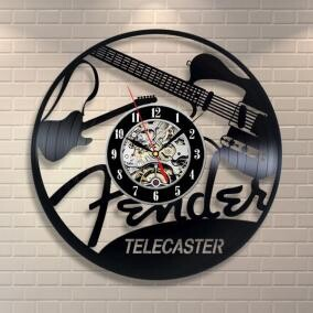 Wall Hanging Product Clock/Watch Music Music Instrument Guitar Caster Interior Display