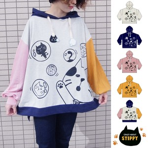 Soap Bubble Cat Charm Attached Big Hoody