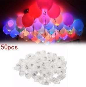 20 Pcs White LED Lamp Lighting Balloon Made Of Paper Lantern Balloon Birthday Christmas