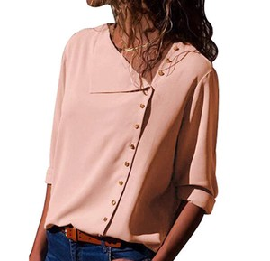 Ladies Blouse Top Office Top Pink