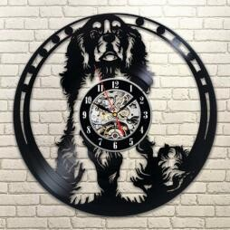 Wall Clock Cavalier Dog Interior Display