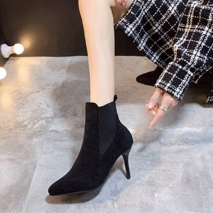 Ladies Short Boots Bootie High Heel High Heel Beautiful Legs