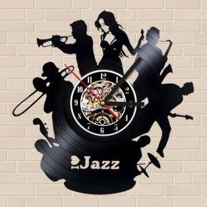 Wall Hanging Product Clock/Watch Jazz Music Music Instrument Black Music Interior Display