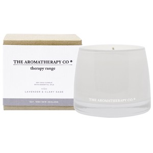new Therapy Range Essential Oil Soy Wax Candle ラベンダー&クラリセージ Relax(リラックス/寛ぐ)
