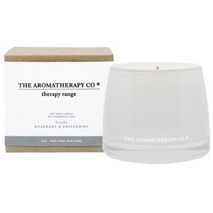 new Therapy Range Essential Oil Soy Wax Candle ローズマリー&ペパーミント Breathe (ブレス/呼吸)