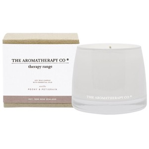 new Therapy Range Essential Oil Soy Wax Candle ピオニー&プチグレン Soothe(スーズ/なだめる)