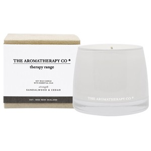 new Therapy Range Essential Oil Soy Wax Candle サンダルウッド&シダー Strengthen (強化)