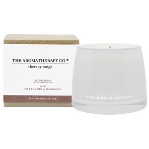 new Therapy Range Essential Oil Soy Wax Candle スイートライム&マンダリン Uplift(アップリフト/上昇)