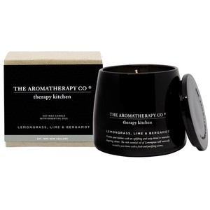 new Therapy Kitchen Essential Oil Soy Wax Candle レモングラス、ライム&ベルガモット