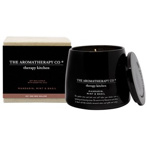 new Therapy Kitchen Essential Oil Soy Wax Candle マンダリン、ミント&バジル