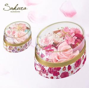 【季節限定】桜の香りのバスギフト(オーバル型)バスボム&バスフラワー【華やかなサクラの香り】