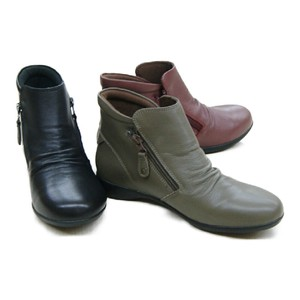 Fastener Genuine Leather Short Boots