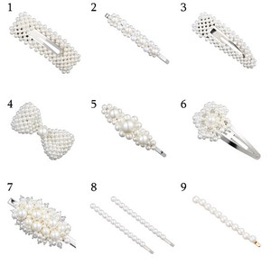 Fashion Pearl Hair Clip Ladies Elegant Korea Design Snap
