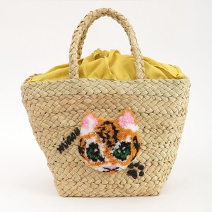 予約【2020新作】ネコ柄刺繍トートバッグ