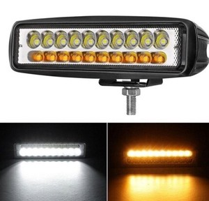Slim LED Light White Amber Head Light Work