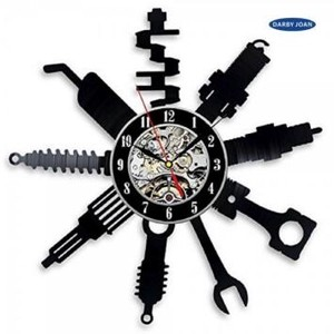 Wall Clock Tool Repair Tool Silhouette Interior
