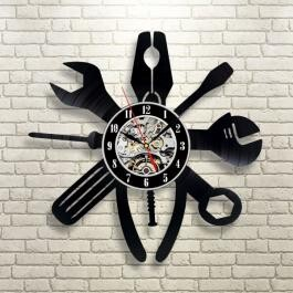 Wall Clock Tool Dry pen Silhouette Eco Interior Display