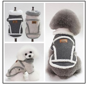 A/W Pet Stretchy Small Size Dog Wear Warm Soft Button Supply