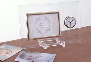 Gift Clock/Watch Attached Glass Photo Frame