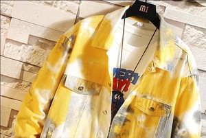Men's Denim Jacket Dazzle Paint