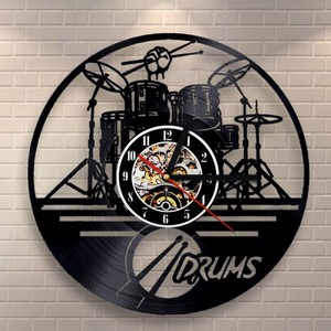 Wall Hanging Product Clock/Watch Music Drum Set Music Instrument Interior Display