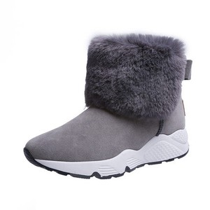 Ladies Short Boots Bootie Snow Boots Heel Thick Raised Back Beautiful Legs