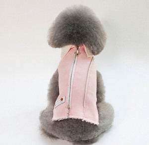 A/W Pet Small Size Fastener Warm Soft Jacket Supply
