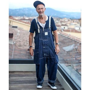 Men's Denim Overall Casual Denim Pants