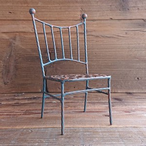 Iron Chair Brown Square Decoration