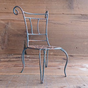 Iron Chair Brown Decoration