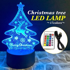 Christmas Tree Reindeer LED Lamp 16 Colors Ornament Event Interior