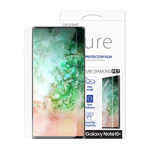 Galaxy Note 10+ 保護フィルム araree PURE DIAMOND