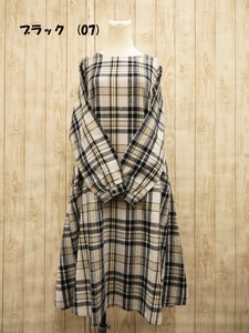 Checkered One-piece Dress