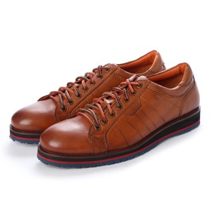 3 Colors Genuine Leather Bi-Color Sole Leather Sneaker A/W