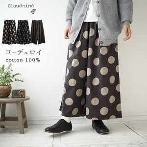 Gaucho Pants Dot wide pants CORDUROY Pants A/W CORDUROY Pants Dot