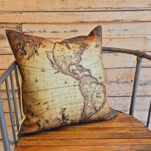 Vintage Style Old Map Cushion Cover [ 2020NewItem ]