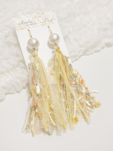 Tassel Yellow Pierced Earring Earring