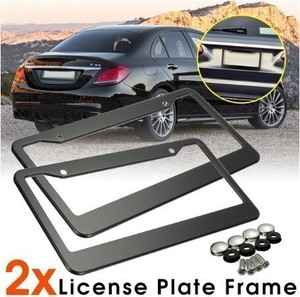 Number Plate Frame 2 Pcs Stainless Steel Number Plate Frame
