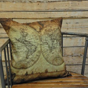 Vintage Style Old Map Cushion Cover