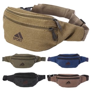 Waist Pack Waist Bag Belt Canvas Hip Bag Pouch Zipper Pocket