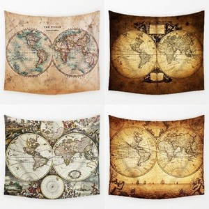 Vintage World Map Series Pattern