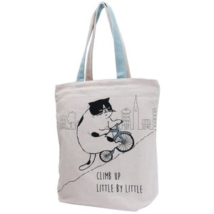 cat Zipper Top Horizontal Canvas Tote