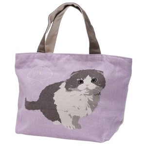 Lunch Tote Fastener Attached Bag Scottish Fold