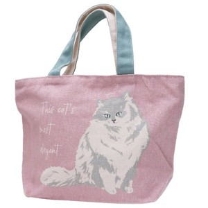 Lunch Tote Fastener Attached Bag Persia Cat