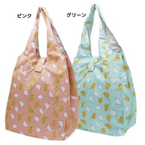 Humming Bird Large capacity Folded Shopping Bag Mint Pink