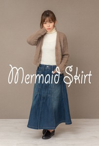 [ 2020NewItem ] Stretch Denim Ido Skirt
