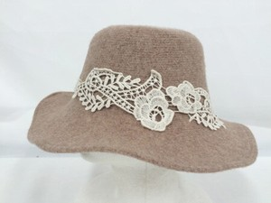 A/W Lace Attached Hat