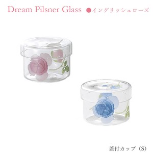 With Lid Cup Size S Rose Heat-Resistant Glass Pink Blue